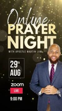 Church online prayer night facebook template Instagram na Kuwento