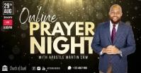 Church online prayer night facebook template