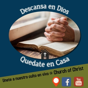 Church online/stay home/COVID-19/iglesia/pray