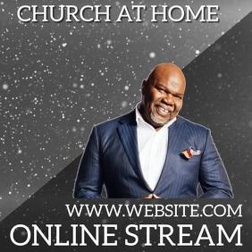 CHURCH ONLINE STREAM STREAMING SERMON Iphosti le-Instagram template