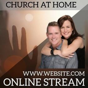 CHURCH ONLINE STREAM STREAMING SERMON Pos Instagram template