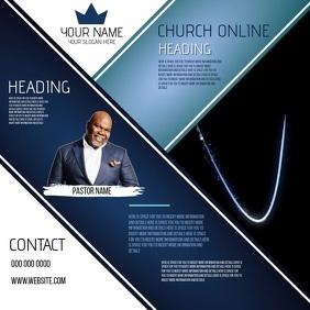 CHURCH ONLINE WEBINAR SEMINAR EVENT AD Square (1:1) template