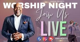church online worship ad template Facebook Gedeelde Prent