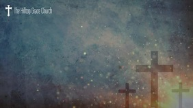 Church online worship service zoom background 演示(16:9) template