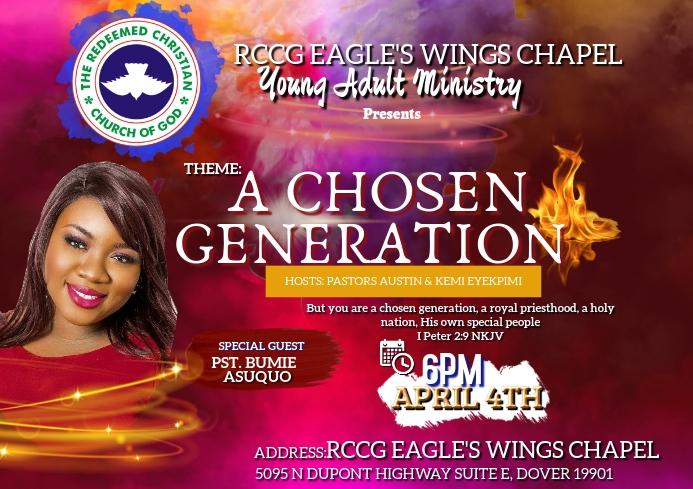 Church or concert flyer A4 template