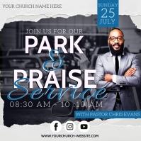 CHURCH PARK AND PRAISE SERVICE TEMPLATE Quadrado (1:1)