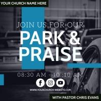 CHURCH PARK AND PRAISE SERVICE TEMPLATE Persegi (1:1)