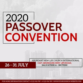 CHURCH PASSOVER CONVENTION EVENT Template