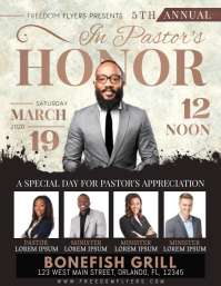 Church Pastor's Honor Celebration Flyer