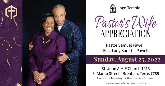 Church pastor's wife appreciation day banner Gambar Bersama Facebook template