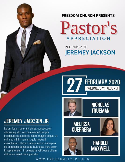 Church Pastor Appreciation Flyer Template