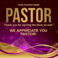 church pastor appreciation online card templa Instagram Post template