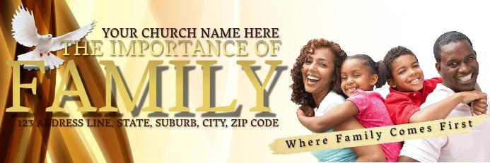 Church Pastor Car Sticker Template Cartel de 2 × 6 pulg.