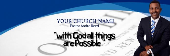 Church Pastor Car Sticker Template Spanduk 2' × 6'