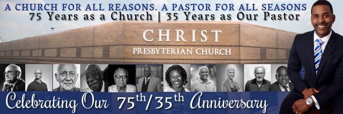 Church Pastor Sticker Template Cartel de 2 × 6 pulg.