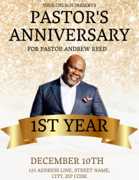 Church Pastoral Anniversary Flyer Template