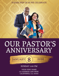 Church Pastoral Pair Anniversary Template