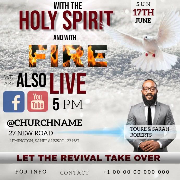 CHURCH PENTECOST PENTECOSTAL FIRE TEMPLATE 方形(1:1)