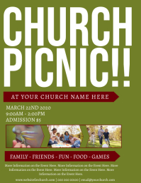 Church Picnic Event Flyer Template Pamflet (Letter AS)