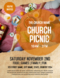 Church Picnic Flyer Template ใบปลิว (US Letter)