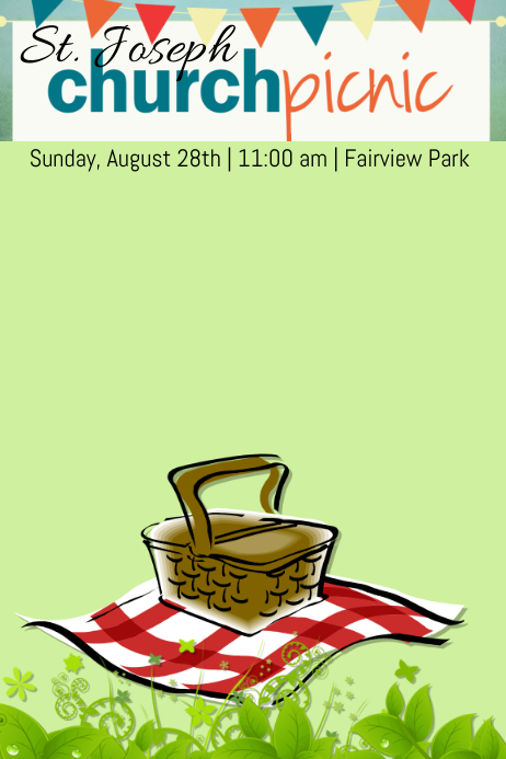 Church Picnic Template Postermywall
