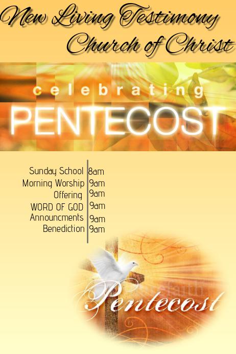 pentecost flyer template