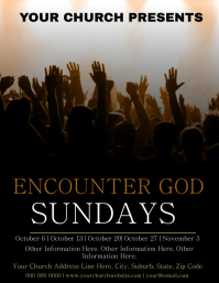 Church Praise & Worship Event Flyer Template