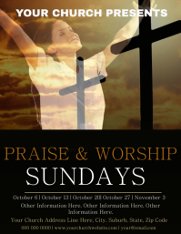 Church Praise & Worship Event Flyer Template