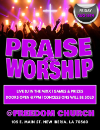 CHURCH PRAISE & WORSHIP FLYER