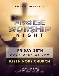 Church Praise and Worship Flyer template