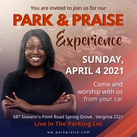 Church Praise and Worship from Car Ad Wpis na Instagrama template