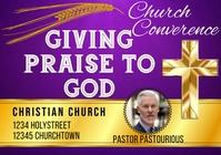 Church Praise Converence Cross Template A4