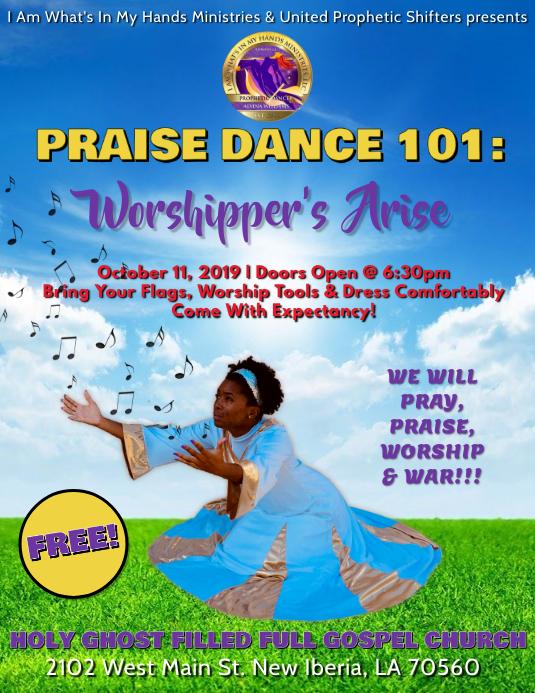 Church praise dance flyer template postermywall - New home design center checklist ...