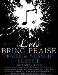 Church Praise Worship Service Flyer Template