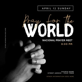 Church Pray Flyer Templates Instagram Post