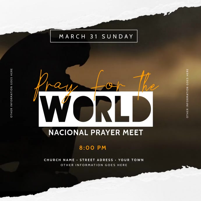 Church Pray Video Template Instagram Plasing