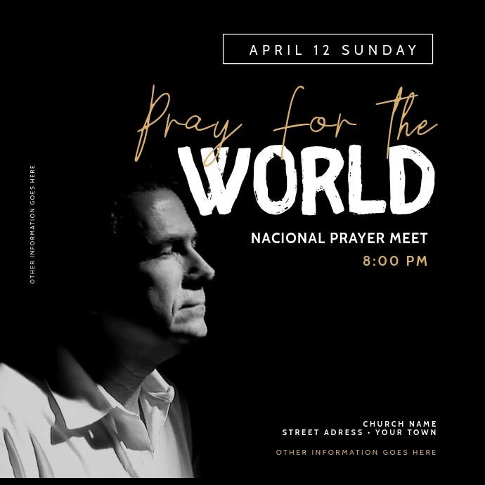 Church Pray Video Templates Instagram-opslag