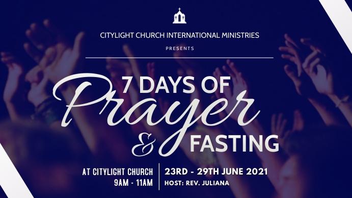 church prayer and fasting flyer Digitalt display (16:9) template