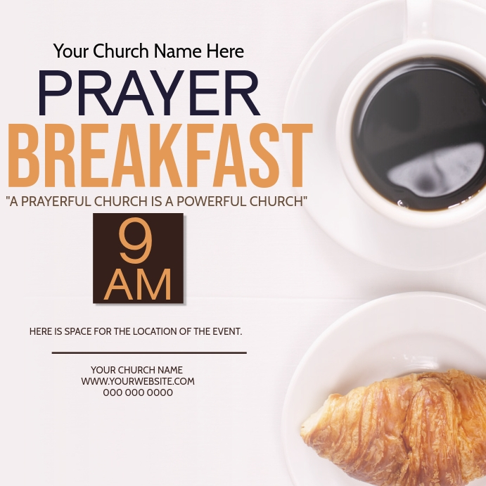 Church Prayer Breakfast Event Template