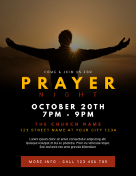 Church Prayer Night Flyer (US Letter) template