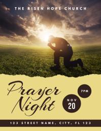 Church Prayer Night Flyer