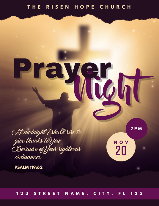Church Prayer Night Flyer