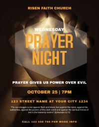 Church Prayer Night Flyer Template