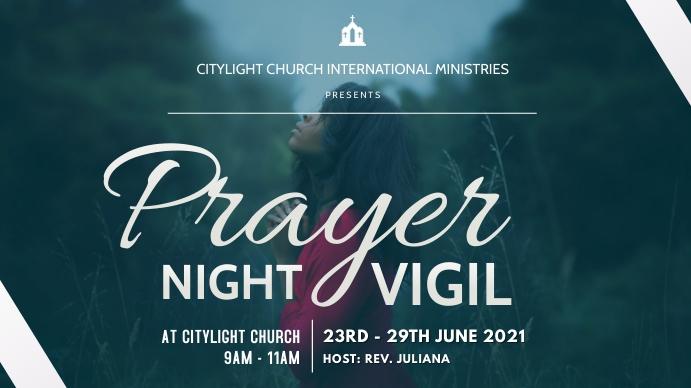 church prayer service Digitalt display (16:9) template