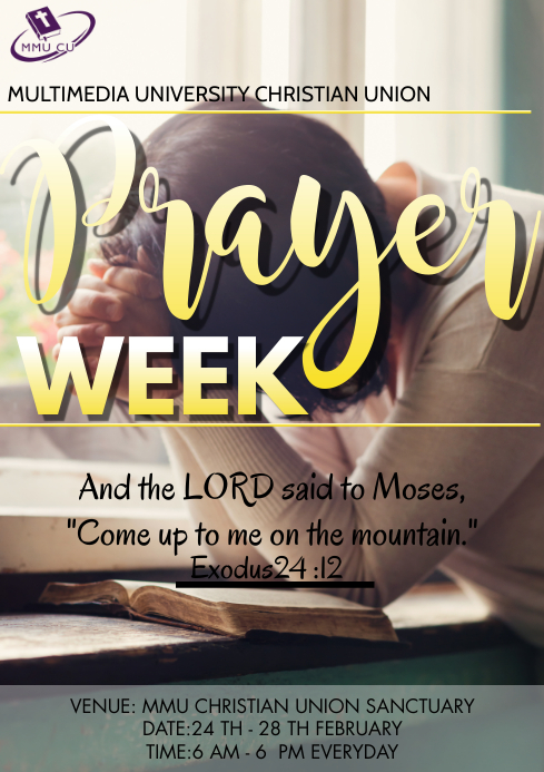 Church prayer week Flyer