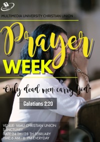 Church prayer week Flyer