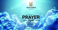 church prayer worship in night ad template Facebook Shared Image
