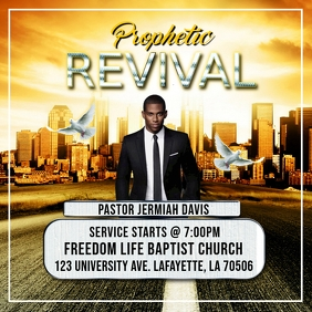 CHURCH PROPHETIC REVIVAL FLYER TEMPLATE