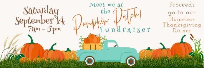 Church Pumpkin Patch Fundraiser Banner Cartel de 2 × 6 pulg. template