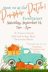 Church Pumpkin Patch Fundraiser Poster Affiche template